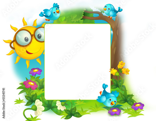 Fotobehang - Happy and colorful frame for the children