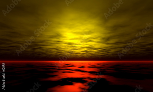 Fotobehang - sunset background