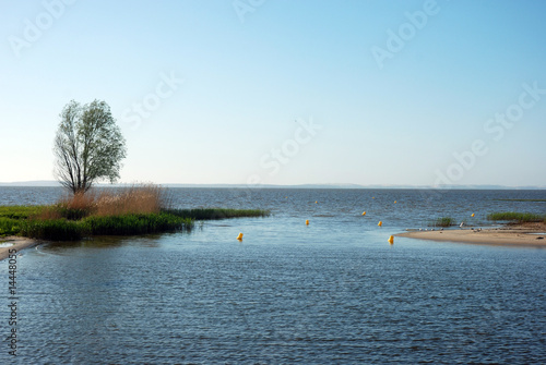 Fotobehang - Sea coastline and pier