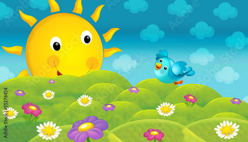 Sticker - The happy and colorful illustration for the children