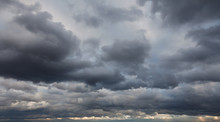 Fotobehang - Natural backgrounds: stormy sky
