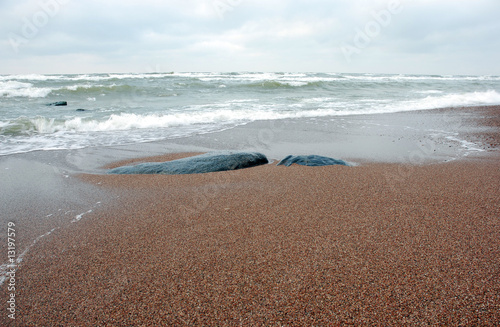 Fotobehang - Baltic Sea shore in winter