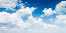 Fotobehang - blue sky with cloud closeup