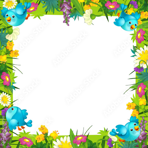 Sticker - Happy and colorful frame for the children