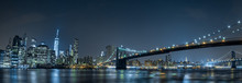 Fotobehang - new york cityscape night view from brooklyn